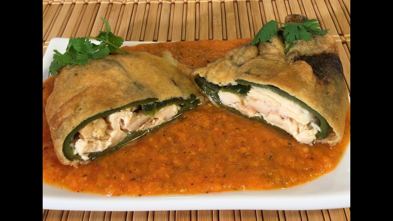 How to make chile relleno mexican food recipes sauce chicken how to make chile relleno mexican food recipes sauce chicken queso fresco cheese youtube forumfinder Image collections