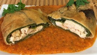How To Make Chile Relleno-Mexican Food Recipes-Sauce, Chicken, Queso Fresco Cheese