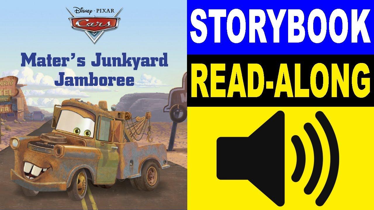 Cars Read Along Story Book Cars Mater S Junkyard