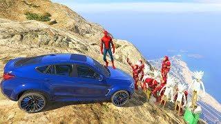 GTA 5 Crazy Ragdolls Spiderman Vs Iron Man & Rick Sanchez (Euphoria Physics, Fails, Funny Moments)