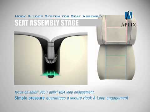 hook and loop for seat assembly aplix automotive interiors youtube. Black Bedroom Furniture Sets. Home Design Ideas