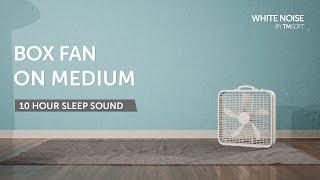 Gambar cover Box Fan on Medium 10 Hour Sleep Sound - Black Screen