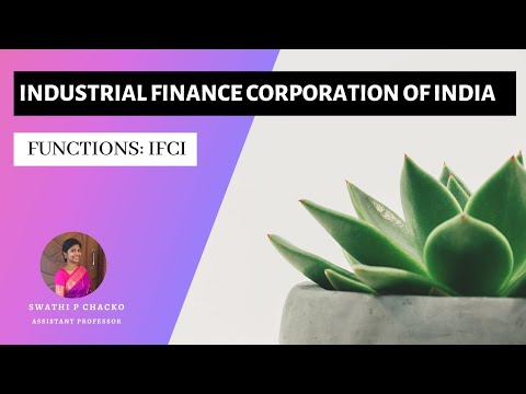 Industrial finance corporation of India: Functions