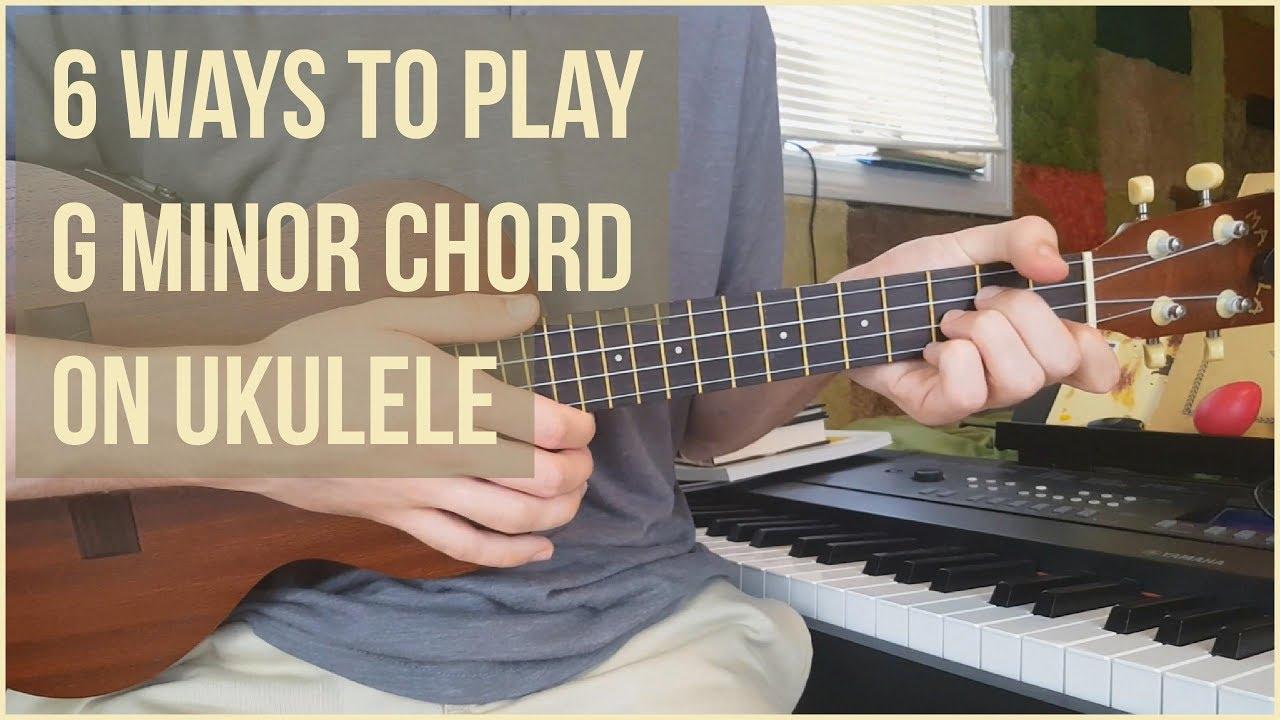 6 ways to play g minor chord on ukulele ukulele tutorial youtube 6 ways to play g minor chord on ukulele ukulele tutorial hexwebz Image collections