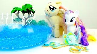 Литл пони и рыбалка. Игрушки для девочек на Мамы и Дочки