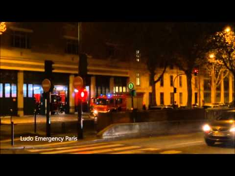 Pompiers De PARIS retour d'intervention Feu  CHAMPERRET  Paris fire Dept back at rescue center