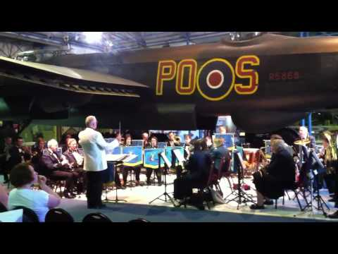 RAF band play theme to battle of britain