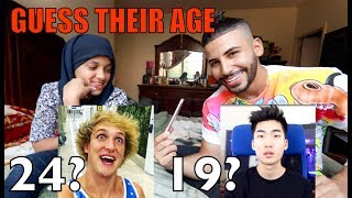 Guess That Youtuber's Age Challenge!! ( Ricegum, Logan Paul, etc)