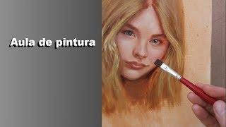 Pintura a óleo sobre tela em camadas