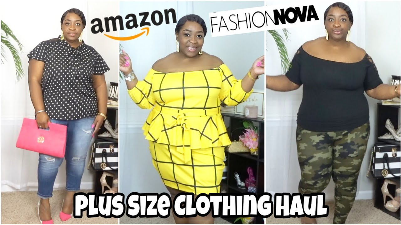PLUS SIZE CLOTHING HAUL || FASHION NOVA /AMAZON /RAINBOW