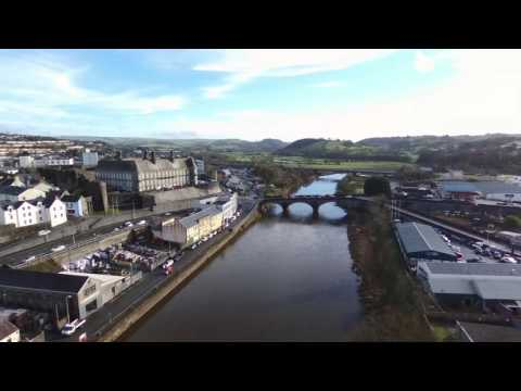 Flight of the River Towy, Carmarthen by Drone