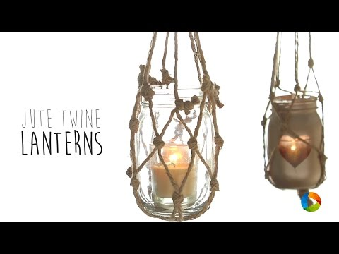 Jute Twine Lanterns | Do It Yourself | Home Decor