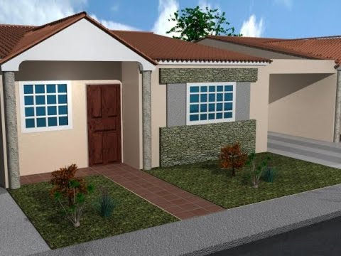 Planos de casas peque as estilo americano youtube for Planos para casas modernas pequenas