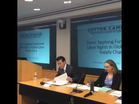 Forced Labor in Cotton Supply Chains – IMF & WBG Annual Forum Panel