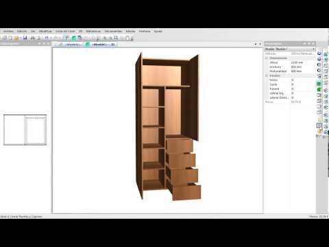 Spazio3d es el software cad cam para mobiliario doovi for Programa para disenar muebles de madera