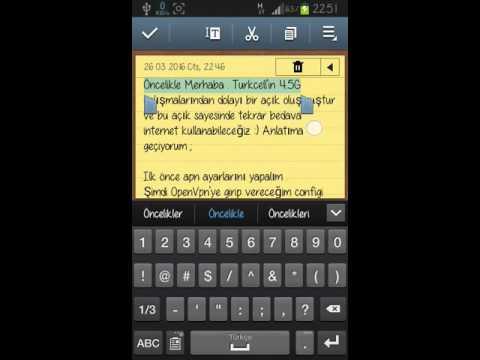 Turkcell OpenVpn İle Sınırsız Bedava İnternet Geri Döndü -) ( 07.05.2016)