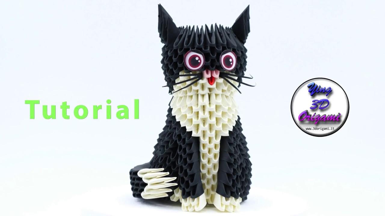 3D Origami Cat Tutorial 4K