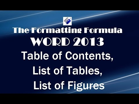 Word 2013   Table of Contents   List of Tables   List of Figures