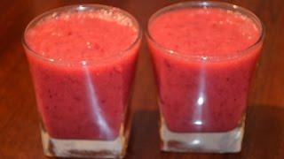 Смузи из клюквы и банана. / Smoothies cranberry and banana
