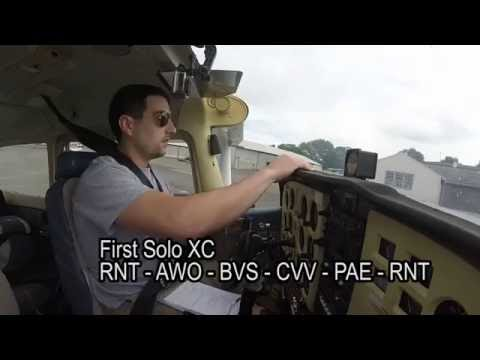 First solo cross country / RNT - AWO - BVS / C172 KRNT