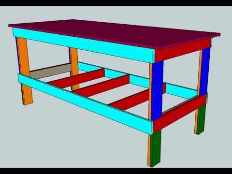 Banco da lavoro in legno fai da te facile e resistente for Banco da falegname progetto