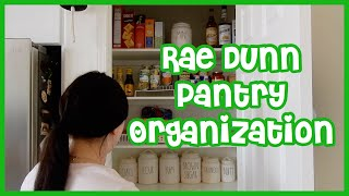 RAE DUNN PANTRY ORGANIZATION | DOLLAR TREE & RAE DUNN ORGANIZATION! | SMALL PANTRY TOUR!