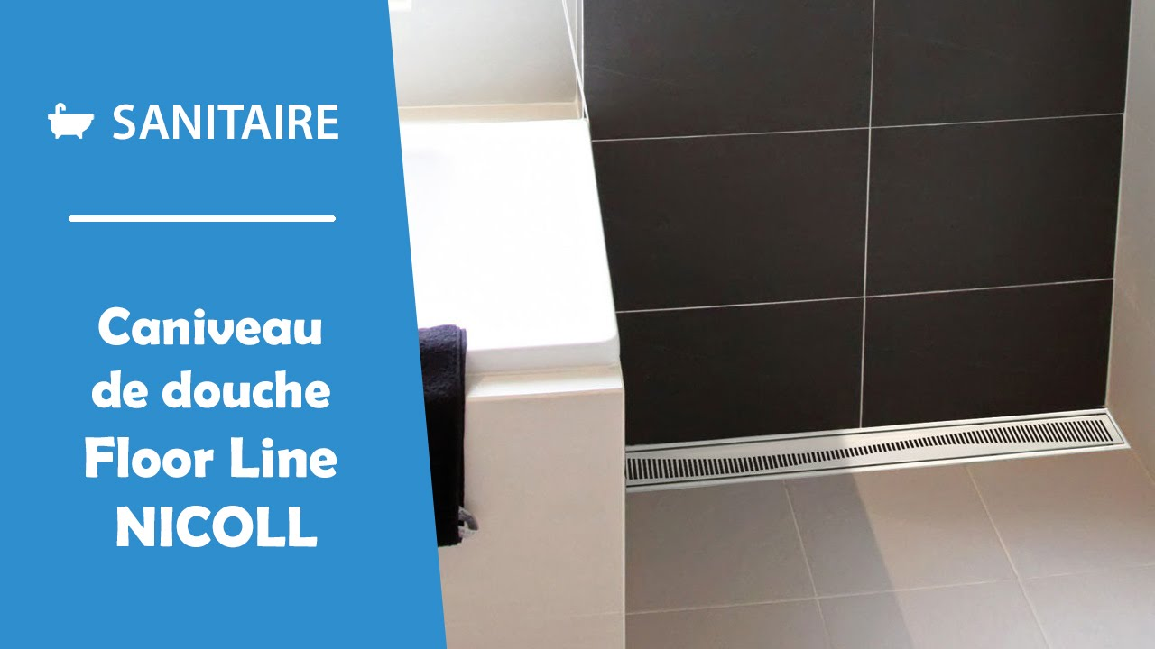 Caniveau de douche l 39 italienne floor line nicoll youtube for Photo de douche italienne