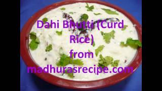 Dahi Bhutti ( Curd Rice)