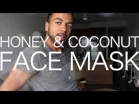 Homemade facial mask with coconut oil