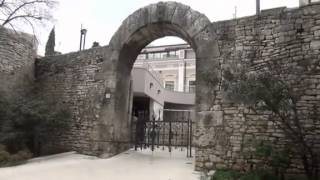 Roman gates around the old city in Pula, Croatia