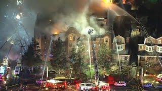 فيديو: حريق ضخم  داخل مبنى في ولاية فيلادلفيا والأسباب لاتزال مجهولة…