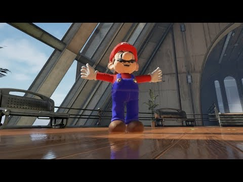 Here's Mario in an Unreal Engine 4 game