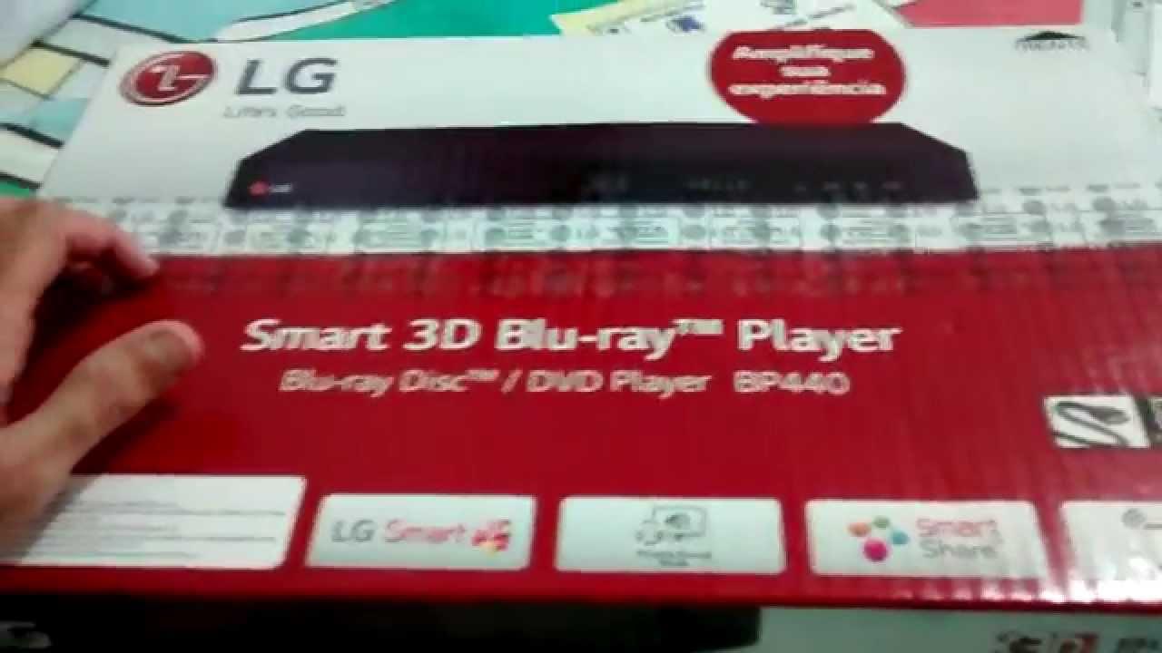 Unboxing Comentado Blu Ray Player Lg Bp440 Youtube