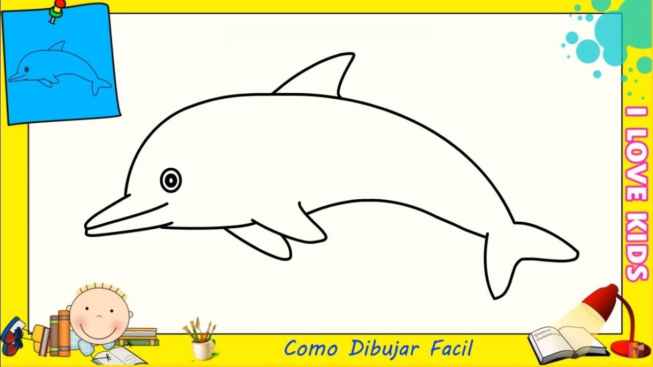 Como Dibujar Un Delfin Facil Paso A Paso Para Principiantes 6 Youtube