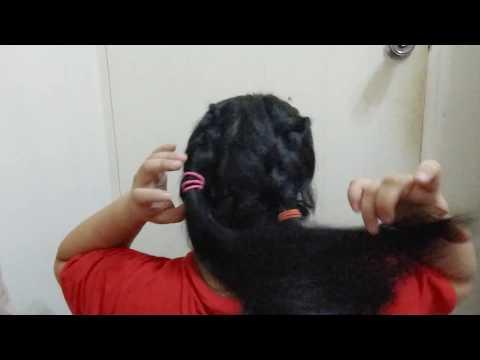 ASMR Hair -messy dutch braid