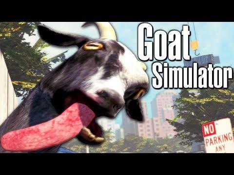 Goat Simulator: Secrets & Easter Eggs! Jetpack Demon King Backflip Gameplay Walkthrough PC Part 1