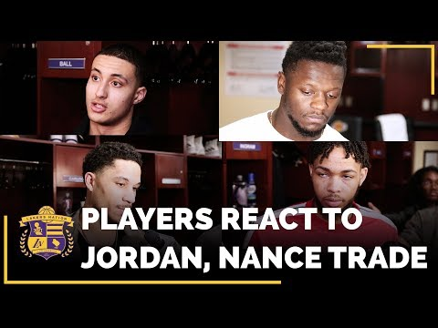 Lakers Players REACTIONS To Trading Jordan Clarkson And Larry Nance Jr.