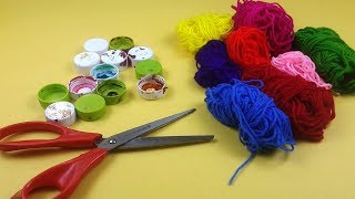 Easy Best out of Waste Wall Hanging Idea - How to make Jhumar/ Wall Hanging from Waste Materials