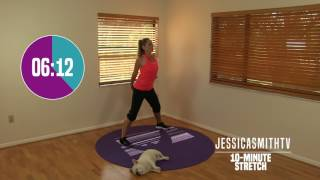 10 Minute Total Body Stretch - At Home Stretching, No Equipment, All Levels, Flexibility