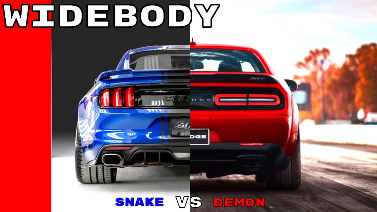 Shelby Cobra Gt500 2017 >> Widebody Shelby Super Snake vs Dodge Demon - YouTube
