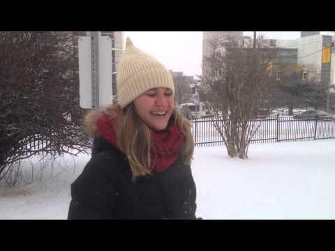 Dia de neve em Hamilton, Ontario - Canada