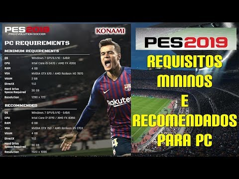 PES 2019 – REQUISITOS PARA PC – #PES2019