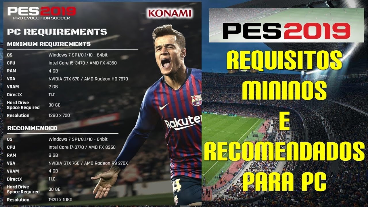 PES 2019 PC REQUIREMENTS #PES2019