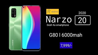 Realme narzo 20 Official Specifications |Price In India | Launched