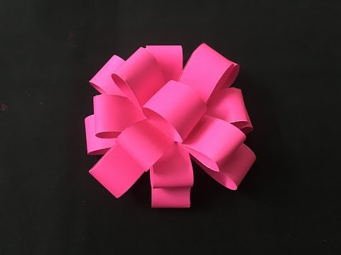 Easy Paper Gift Bow Craft Tutorial