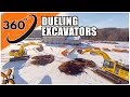 360° Technology | Bird's-Eye View of Dueling Excavators // Ep. 119