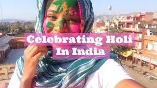 Celebrating the Holi festival in India 2017!