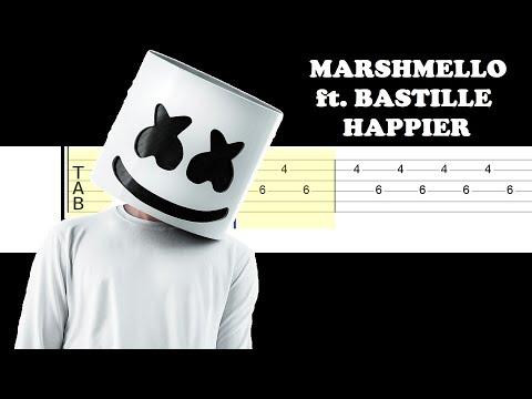Marshmello ft Bastille - Happier (Easy Guitar Tabs Tutorial)
