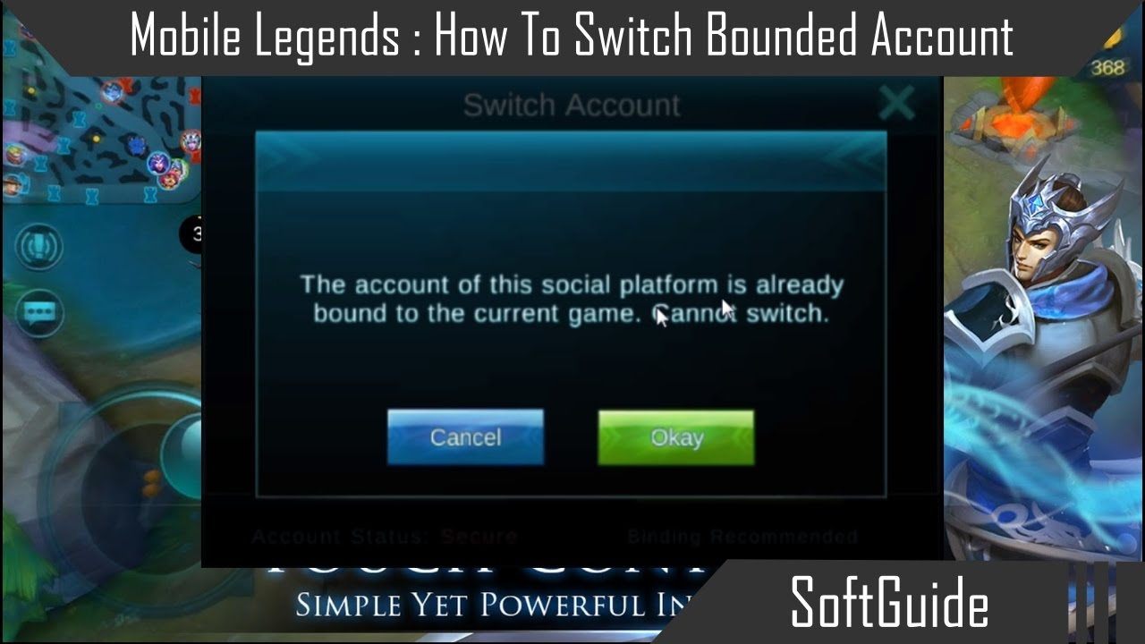 Mobile Legends  How To Switch Bounded Account  YouTube