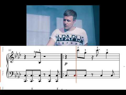 Winter Nights - Jan Blomqvist (synchronized with piano sheet music)
